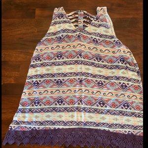 Eyelash Couture Girls Large Lace Tank Top